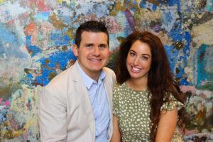 Taylor & Megan Kovar posing at the Fredonia Hotel in Nacogdoches Texas
